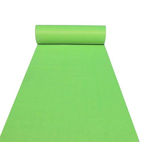 LCM Hochzeiten Aisle Carpet Runner Teppichboden Runner für Hall Stair Party Hochzeit Carpet Runner Genuine grün (Color : Green, Size : 1M*50M)