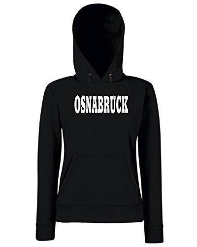 T-Shirtshock - Sweats a capuche Femme WC0784 OSNABRUCK GERMANY FOOTBALL Noir