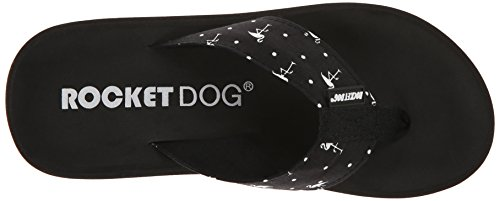 Rocket Dog Spotlight Toile Tongs Black Mingo