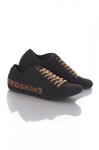 Redskins - Tempo noir/havane canvas - Chaussures basses toile Noir