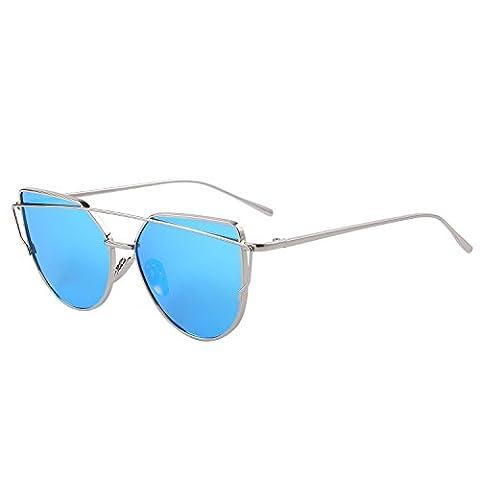 MERRY'S - Lunette de soleil - Femme bleu Silver&Blue