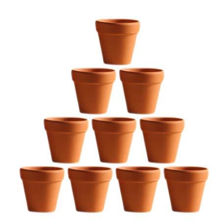 FVSDVCXV 10 Stücke Kleine Mini Terrakotta Topf Ton Keramik Pflanzgefäß Kaktus Blumentöpfe Sukkulenten Töpfe Große