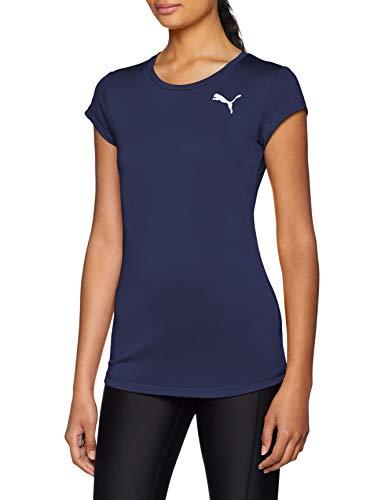 Puma Damen Active Tee T-Shirt, Peacoat, S