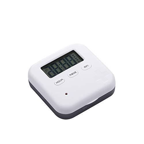 Smart Pill Box, Reminder Alarm Dispenser Organizer Halter Tragbare Mini Travel Pill Aufbewahrungsbox Behälter für die tägliche Medizin und Vitamine -