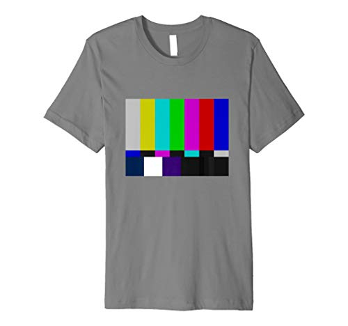 TV Test pattern Stripes T-Shirt for Adults or Kids, Many Colours and Size