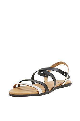 ESPRIT Leder-Sandale mit Metallic-Riemchen - Metallic-leder Riemchen Sandale