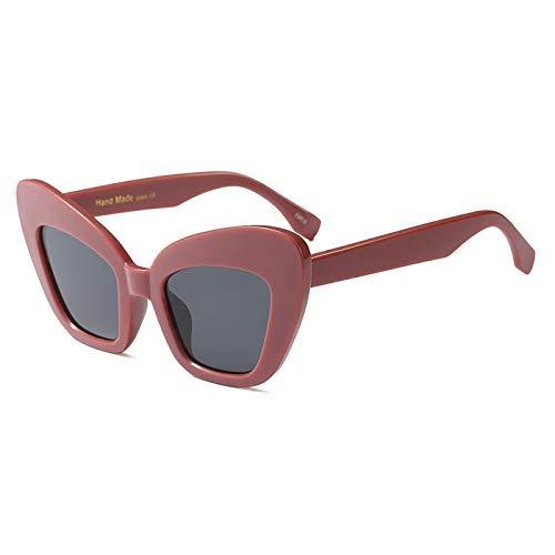 Wghz Big Frame Unique Cat Eye Sonnenbrille Damenmode HD Sonnenbrille Damen Vintage Schwarz Pink Shades