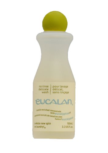 Pflegende Handwäsche (Eucalan 666884100382 pflegendes Feinwaschmittel, Eykalyptus, 100 ml für Handwäsche)