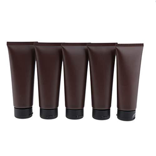 perfeclan 5x 100ml Flacon de Voyage Bouteille de Voyage Tubes Souple Cosmetique Vide Avion pour Crème Shampooing Lotion