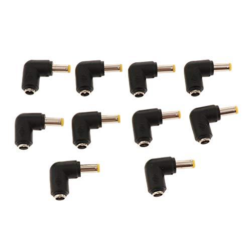 perfk 10x DC Hohlstecker 2.1x5.5 mm Buckse zu 5.5x2.5mm Power Plug für Externe Stromquelle und on-Board-Transformator, 90 Grad gewinkelt