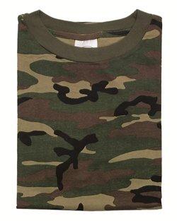 T-Shirt tarn woodland Gr.4XL (Army Tarn Baumwolle Woodland T-shirt)