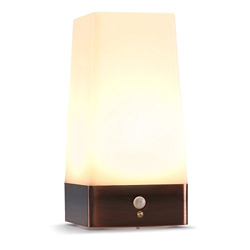 LEDemain Wireless Motion Sensor LED Night Light 3 Modes Battery Powered LED  Table Lamp   Operated Light  Stairway Bedroom Hallway Emergency For  Decorating ...