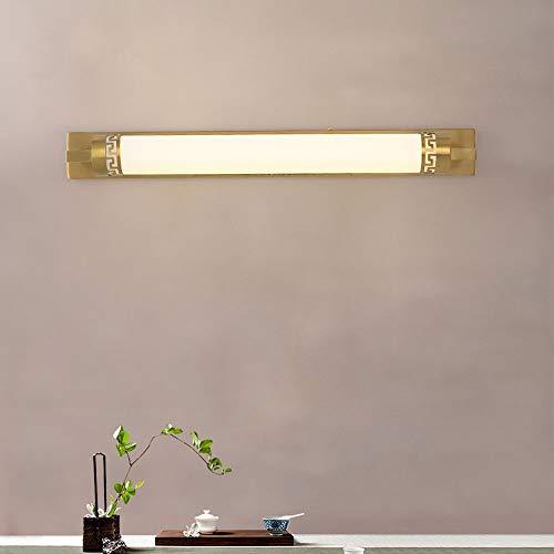 LDDENDP LED Spiegel Scheinwerfer Badezimmer Vanity Lampe Metall Kupfer Beleuchtung Lichter Innendekoration Ozean Badezimmer Vanity Wandleuchte Badezimmer Studie Schlafzimmer Halterung Licht (21,2 Zoll -