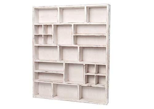 Hotex Setzkasten unbestückt, 48,5x58x6,5 cm, weiß, antik, BeaLena