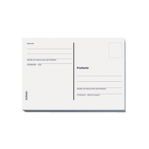 Herlitz 10666162 Postkarte A6, 20 Stück im Heft geblockt