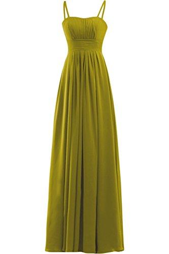 Sunvary Sera Sera senza spalline in Chiffon vestito da damigella Empire Sbuffi Olive