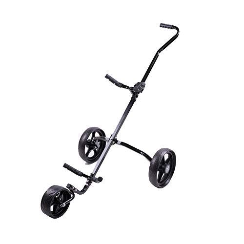 Bequem Golfwagen schwenkbare Faltbare 3-Rad-Push-Pull-Wagen Golf Trolley Golf Push Cart dauerhaft (Räder Für Golf Carts)