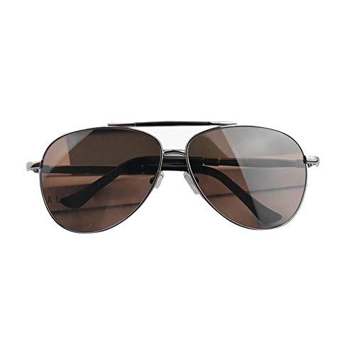Easy Go Shopping Winddichte Bequeme Sonnenbrillen für Herren, Retro Pilot Aviator Eyeglasses. Sonnenbrillen und Flacher Spiegel (Farbe : Sunglasses)