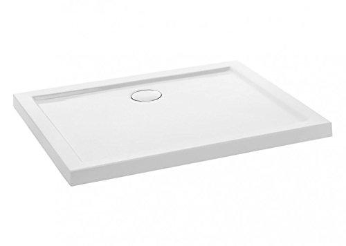 duschwanne 110x100 Duschwanne aus Acryl   schlagfest   inkl.Duschwannen Ablaufgarnitur, Abmessungen:L110 B90