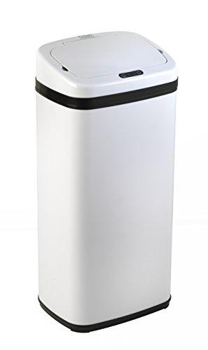 Russell Hobbs BW04511Cubo de Basura Manos Libres, con Sensor de Movimiento, 30 l, Metal, Blanco, 40 L