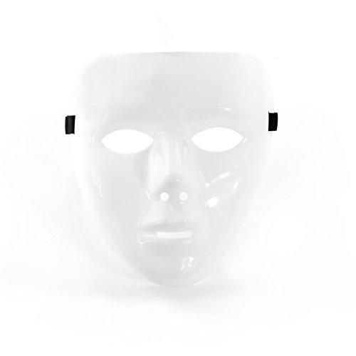 Oblique-Unique® weiße Maske unbemalt neutral - 6 Stück - Karneval Fasching Party Theater