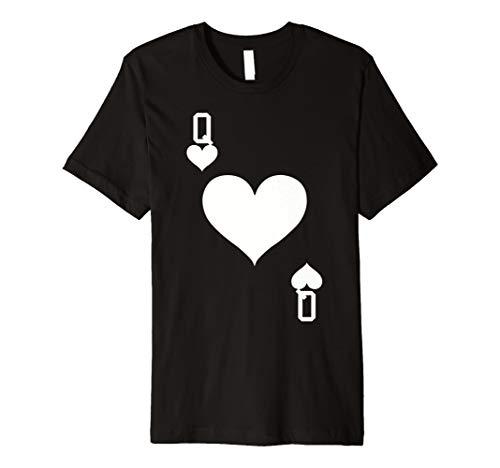 Queen of Hearts Karte Halloween-Kostüm T-Shirt (weiß)