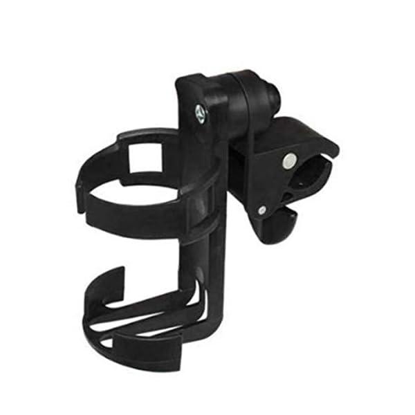 Sunnyflowk Baby Stroller Bottle Holder Child Car Accessories Bicycle Adjustment Clip (Black) Sunnyflowk  1