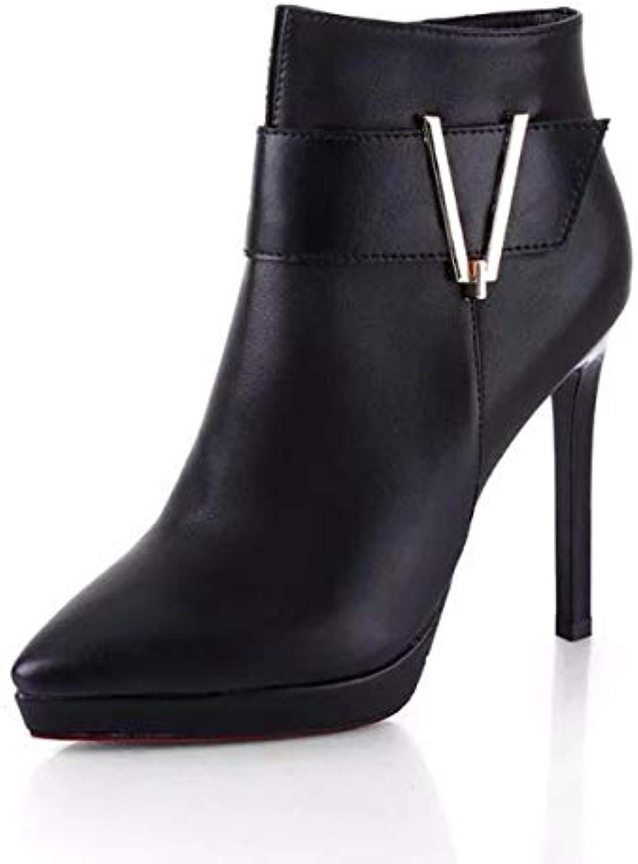 6459bbcb2d3291 GTVERNH Chaussures Femmes/A Femmes/A Femmes/A Court De Bottes Chaussures 10  Cm des Bottes pour Femmes Minces Et Peu De Martin Bottes.