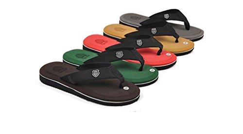 Herren Zehentrenner Sandalen Schuhe Rote