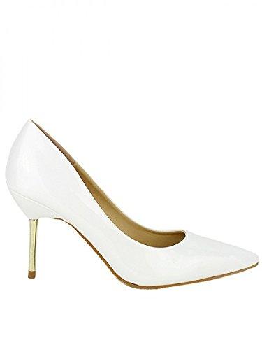 Cendriyon, Escarpin Verni Blanc GALINA Chaussures Femme Blanc