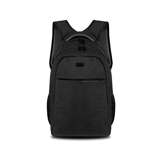 Xxbl zaino per laptop da viaggio impermeabile e resistente in nylon nero per computer portatile da 14 pollici, zaino per affari di grande capacità da 20-35 litri, borsa per studente, unisex,black