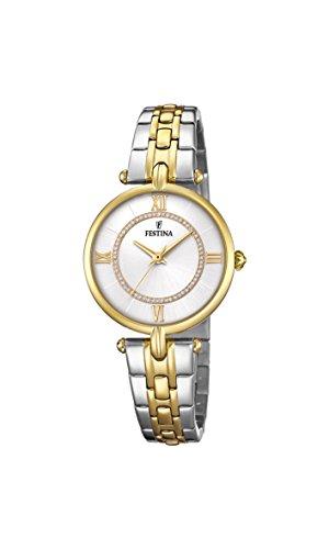 Festina Reloj Análogo clásico para Mujer de Cuarzo con Correa en Acero Inoxidable F20316/1