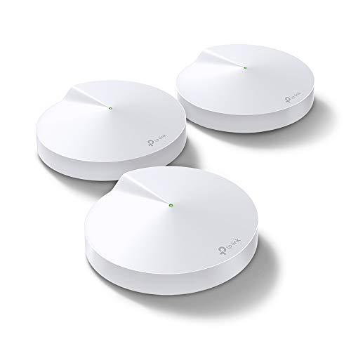 TP-Link Deco M9 Plus Wifi Mesh, Pacchetto da 3 unità fino a 600 ㎡, AC2200, Velocità Tri-Band 2134Mbps, Consigliato per giocatori di giochi e utenti di Fibra, Nuovo lancio, Compatibile Alexa