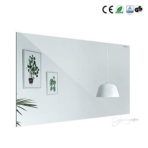 Infrarot Spiegelheizung, Design Heizung aus gehärtetes Glas - 700 Watt 60x120 cm