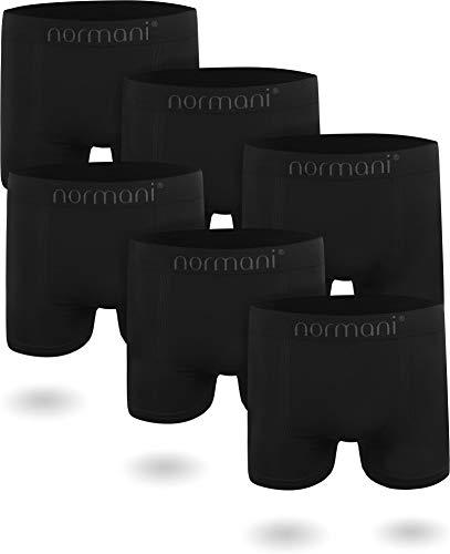 normani 6 oder 12 Mikrofaser-Unterhosen für Herren | atmungsaktive Sport-Funktions-Unterwäsche | Boxershorts | Retroshorts für Männer [Gr. S-3XL] Farbe 6 x Schwarz Größe L/XL -