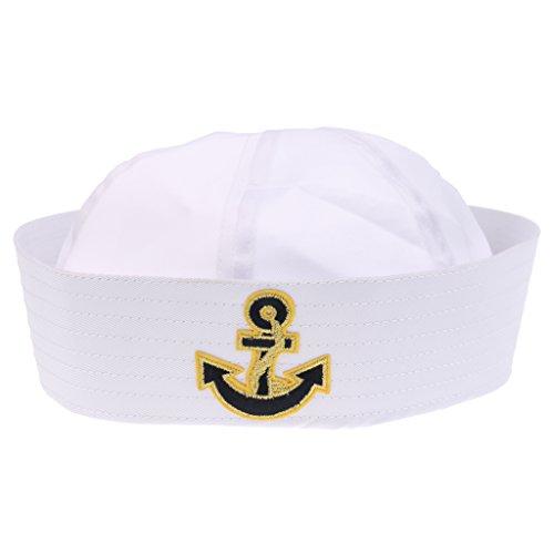Sharplace Mini Matrosenmütze Seemann Hut Matrosen Mütze weiß Kopfbedeckung Seemannsmütze für Erwachsene/Kinder - Farbe 9, wie beschreiben Baby-captain Hut