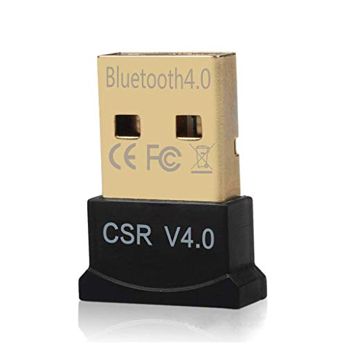 Protokart Mini USB Bluetooth Adapter, CSR 4.0 USB Bluetooth Dongle Receiver, Gold Plated, for Laptop PC Computer Supports Windows 10 8 7 Vista XP 32/64 Bit
