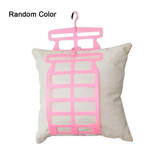 Rekkles Kissen Kissen Aufhänger Rack-Kissen Wäscheständer Winddichtes Multifunktionsplastikkissen Puppe Plüschtier Hanger zufällige Farbe