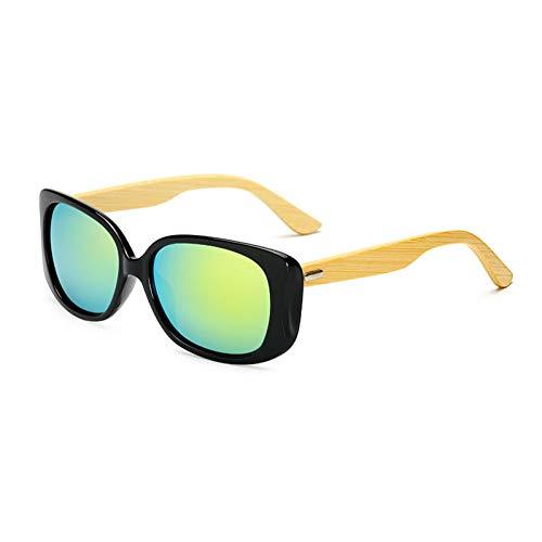sijiaqi Holz Sonnenbrille Männer Frauen Gespiegelt Uv400 Sonnenbrille Echte Holz Shades Gold Blau Outdoor Brille Sunglases Männlich,Style 4