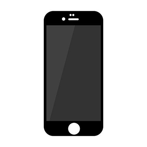Asnlove iPhone 6 Privacy Screen Protector, Tempered Glass Screen Protector Anti-Spion 3D Schutzfolien Privacy Sichtschutz Für iPhone 6s Anti-Fingerabdruck Anti Scratch mit Blickschutz(Schwarz)