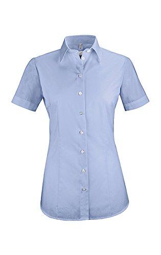 Greiff Damen-Bluse BASIC, Regular Fit, Stretch, easy-care, 6516, bleu, Größe 36