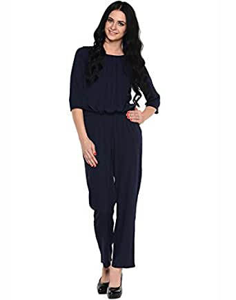 Navy Long Jumpsuit by Magnetic Designs (MDROM312 _Blue_X-Large)
