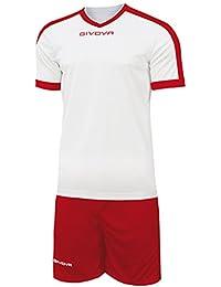 Marchio Givova - modello kit revolution - completino di maglia manica corta  e pantaloncino   Home 795d0238252