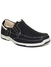 PEZZANO - Mocasín Neo R11 Zapatos Mocasines Hombre Negros Modernos Casuales Baratos