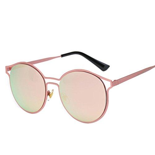 OverDose Unisex Sommer Frauen Männer Moderne Modische Spiegel Polarisierte Katzenauge Metallrahmen Sonnenbrille Brille Damensonnenbrille Herrensonnenbrille (N-A)