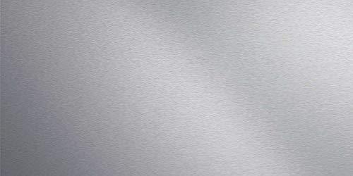 Artland Qualität I Spritzschutz Küche I Alu Küchenrückwand Herd BxH: 120x60 cm sehr schnelle und einfache Montage Uni Alu gebürstet