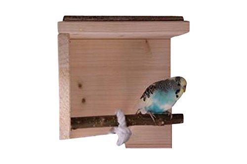 Schlafhaus mit Naturholz Sitzstange für Wellensittich, Nymphensittich & Co. | Tolles Vogelzubehör für die Voliere ...