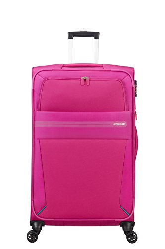 American Tourister Summer Voyager Spinner 79/29 Expandable 112L, 3.9 KG Bagaglio a mano, 79 cm, 123 liters, Rosa (Deep Pink)