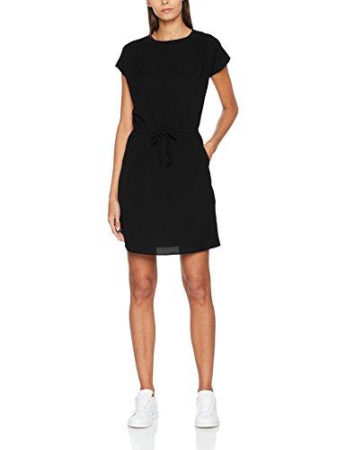 VERO MODA Damen Kleid Vmsasha Bali S/S Dress Noos, Schwarz (Black Black), 42 (Herstellergröße: XL)