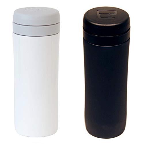 Espro Travel Press Matte Black & Bright White w/Coffee Filter French Press Mug - French White-mug
